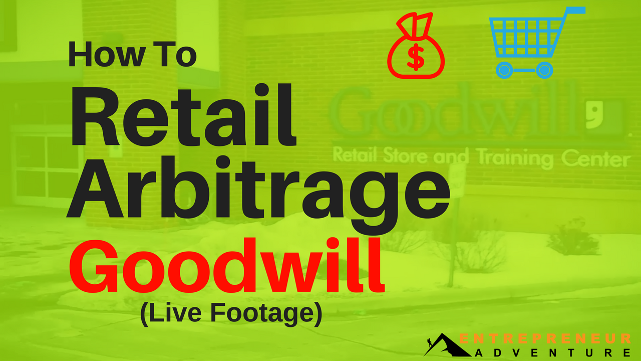 How to Retail Arbitrage Goodwill on Amazon (Live Footage)