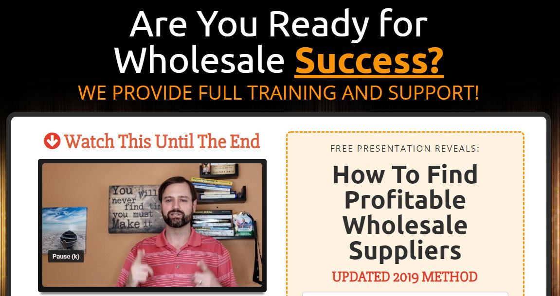 FREE PRESENTATION REVEALS: How To Find Profitable Wholesale Suppliers